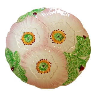 English Majolica Plate For Sale