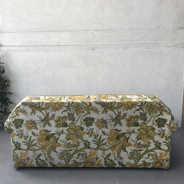 Vintage Mid-Century Modern Upholstered Floral Sofa - Image 4 of 8
