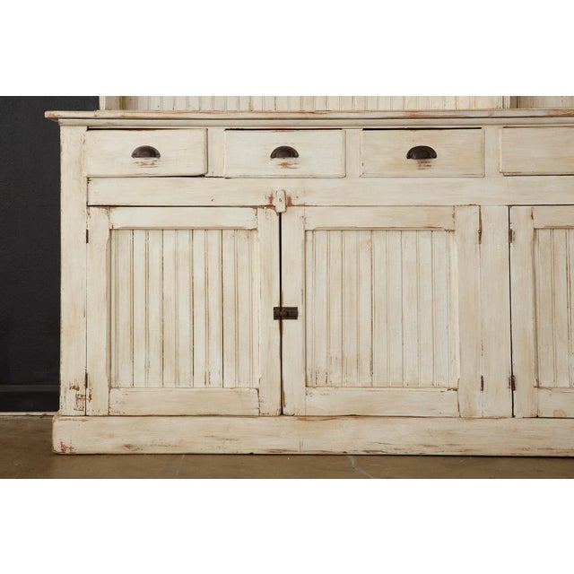 American Painted Pine Kitchen Cabinet Cupboard or Bookcase For Sale - Image 10 of 13