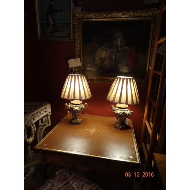 Silver Small Pair of Italian Lamps For Sale - Image 8 of 12
