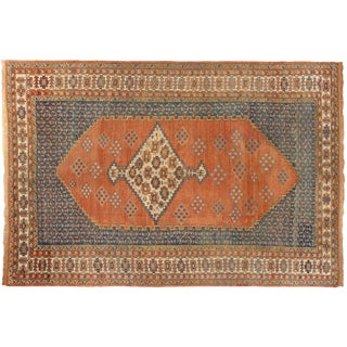 """Antique Persian Mahal Wool Rug - 10'2"""" X 15'2"""" For Sale"""