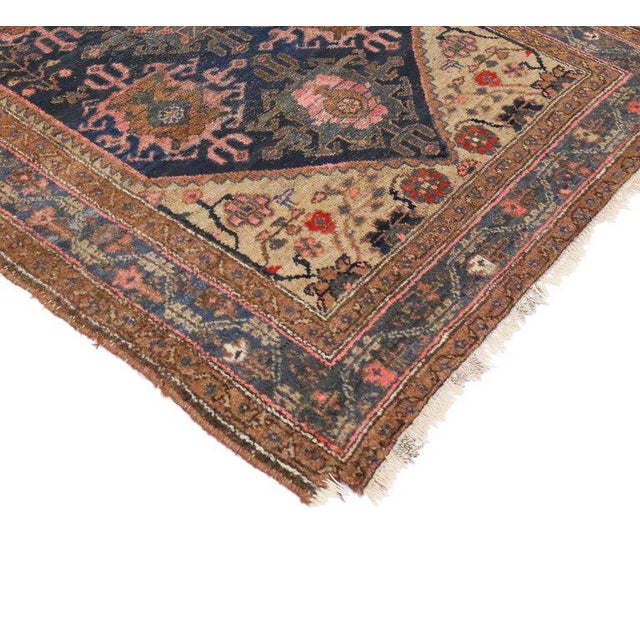 Antique Hamadan Persian Rug with Modern Style For Sale - Image 5 of 8