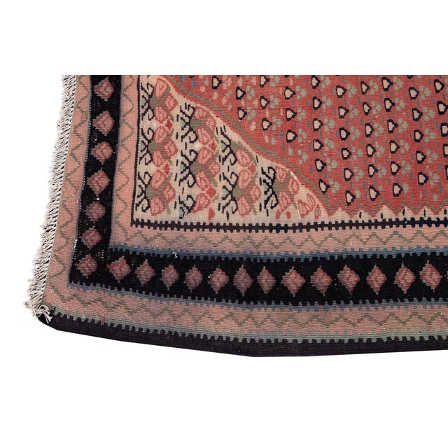 """Mid-20th Century Vintage Kilim Rug 4' 5"""" X 10' 11''. For Sale In New York - Image 6 of 13"""