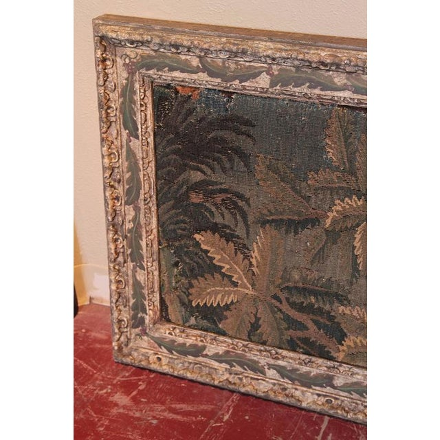 Green 18th Century Framed French Aubusson Tapestry For Sale - Image 8 of 10