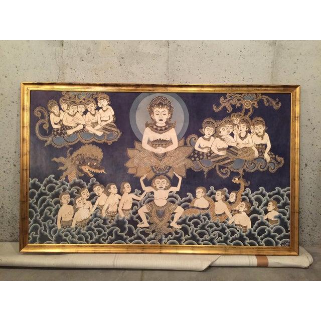 Framed Cultural Theme Indonesian Batik Artwork - Image 2 of 11