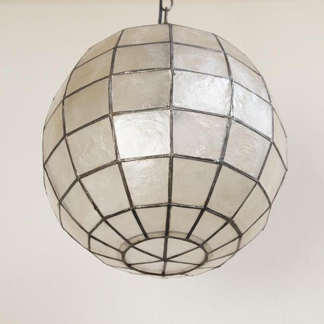 Capiz Globe Lantern - Image 3 of 3