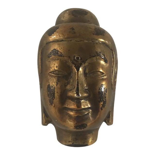 Vintage Gold Leaf Buddha Head - Image 1 of 5