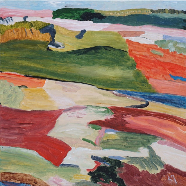 Lofty Goal was inspired by the artist's love of hiking in the mountains and by the work of Richard Diebenkorn. This...