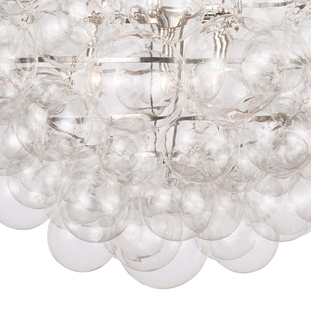Nimbus Glass Chandelier in Clear For Sale - Image 4 of 7