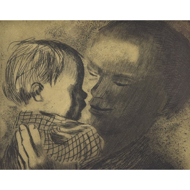 Expressionism 1960s Expressionist Kathe Kollwitz Etching of Mother and Child - Mutter Mit Kind For Sale - Image 3 of 8