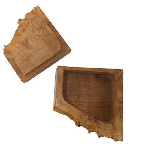 Michael Elkan Michael Elkan Burl Wood Box For Sale - Image 4 of 5