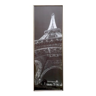 La Tour Eiffel Jim Alinder Vintage Black & White Photo Lithograph Print Framed Eiffel Tower Poster For Sale
