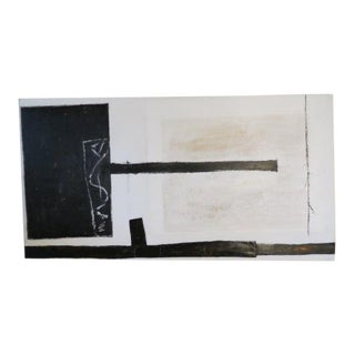 Minimalism Black and White Abstract Painting For Sale