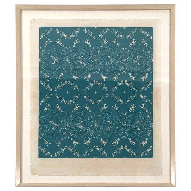 Folly Cove Designers Snow Flurry Hand Block Print For Sale - Image 10 of 10