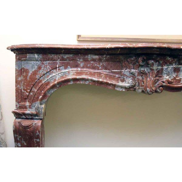 Louis XV Style Marble Mantel For Sale - Image 5 of 6