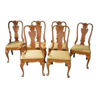 1960s Vintage Pennsylvania House Dining Room Chairs- Set of 6 For Sale