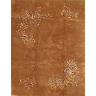 Pasargad Ny Antique Chinese Peking Hand-Knotted Rug - 8′10″ × 11′5″ For Sale
