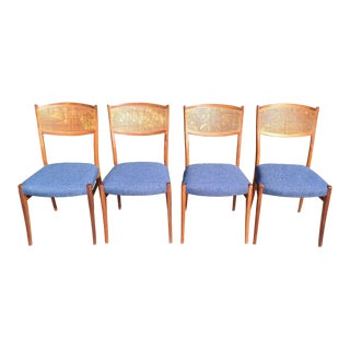 Newly Upholstered Vintage Dining Chairs Set of Four For Sale
