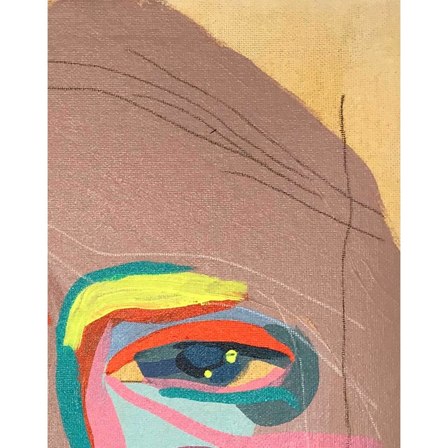 """Early 21st Century Contemporary Abstract Portrait Painting """"Let's Go Together, No. 3"""" - Framed For Sale - Image 5 of 9"""