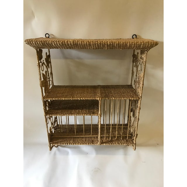 Boho Chic Mario Lopez Torres Hanging Plate Shelf For Sale - Image 3 of 8
