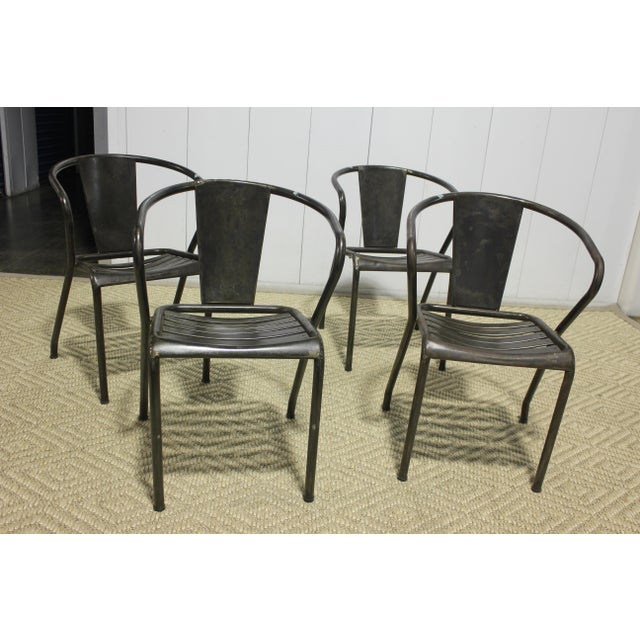 1960s 1960s Vintage Metal Dining Chairs- Set of 4 For Sale - Image 5 of 6