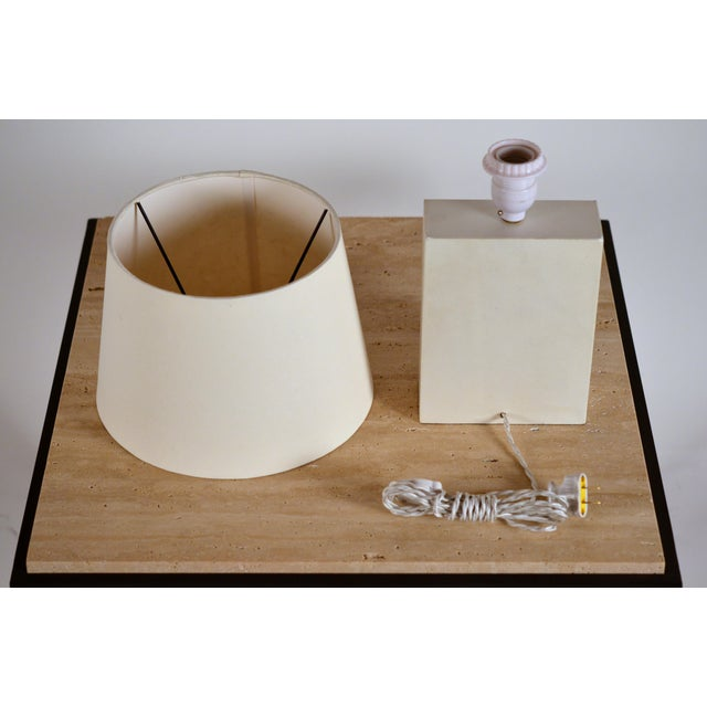 Bloc' Parchment Table Lamp by Design Frères - a Pair For Sale In Los Angeles - Image 6 of 7