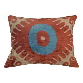 Rita Silk Velvet Ikat Pillow