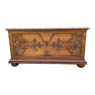 Antique French Trunk Blanket For Sale