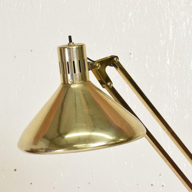 Luxo Mid-Century Modern Vintage Brass Floor Drafting Architect Lamp by Luxo For Sale - Image 4 of 8