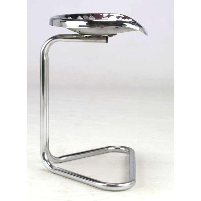 Cantilevered Chrome Tractor Seat Stool. For Sale In Chicago - Image 6 of 6