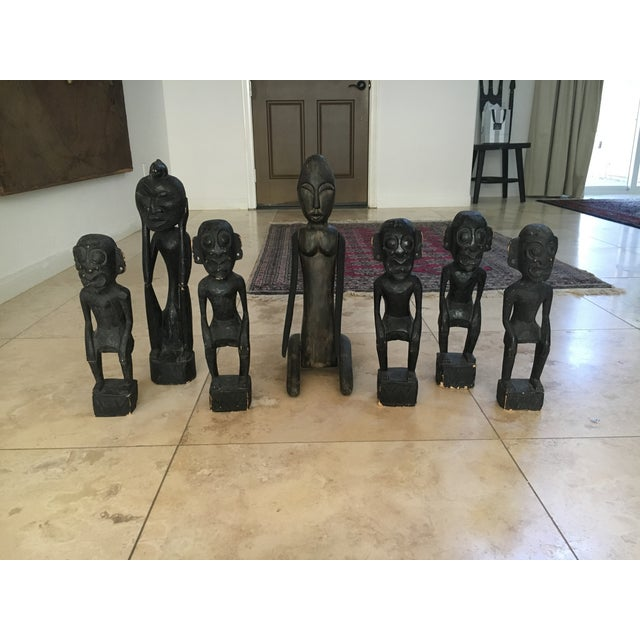 Balinese Wooden Figurines - Set of 7 - Image 2 of 11