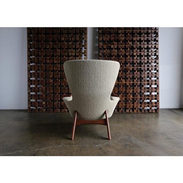 Adrian Pearsall for Craft Associates Wing High Back Chairs - a Pair For Sale - Image 11 of 13