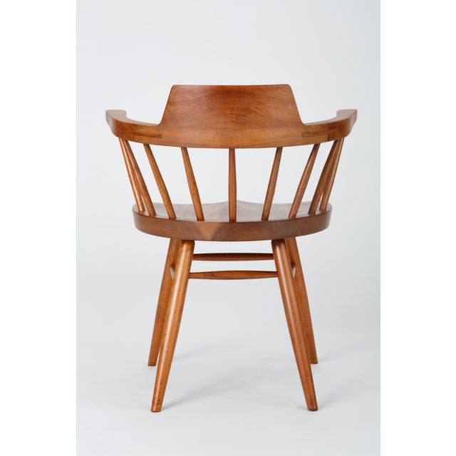 Single Black Walnut Captain's Chair by George Nakashima Studio For Sale - Image 10 of 13