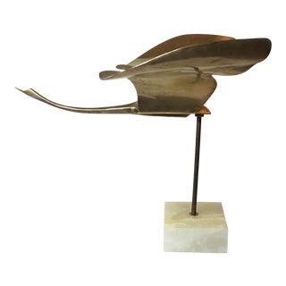 Bronze Bird Sculpture by Somchai For Sale