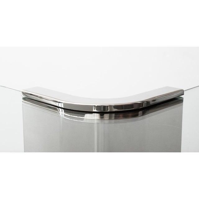 Polished Steel Cantilever Coffee Table - Image 9 of 11
