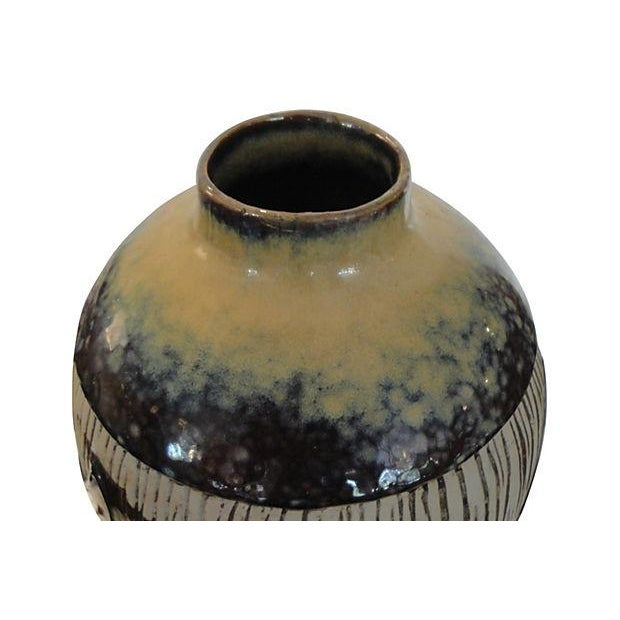 Large Pottery Vase with Fish Design - Image 4 of 5