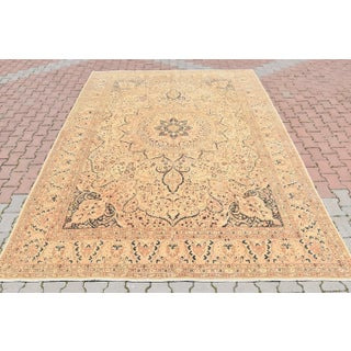 Turkish Oushak Handmade Carpet Oriental Design Wool Cream Color Area Extra Large Rug 8x11 Ft Preview