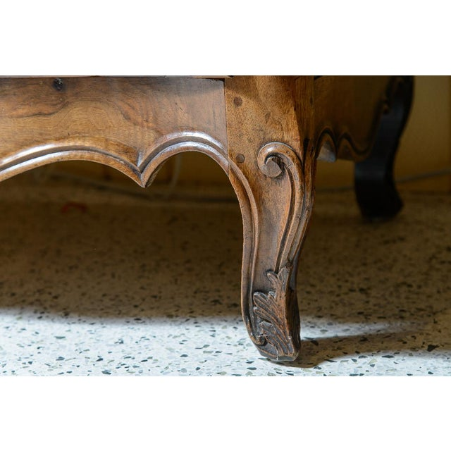 Brown French Provincial Walnut Commode For Sale - Image 8 of 10