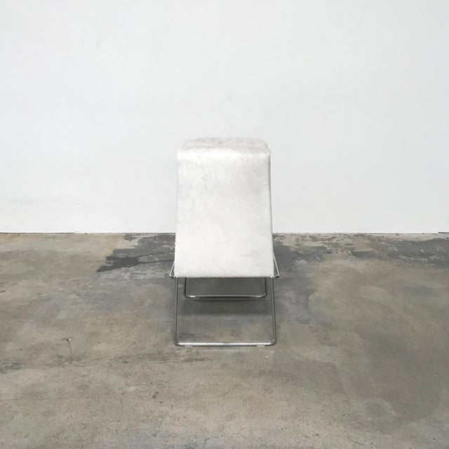 B&B Italia 'Pyllon' Stool by Nicole Aebischer Designed by Nicole Aebischer, the pony skin top of this stool conveys a...
