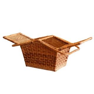 Wicker & Rattan Picnic Hamper Basket Preview
