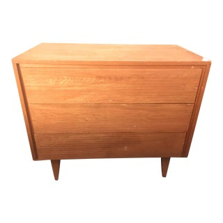 1950s Scandinavian Blonde Maple Dresser For Sale