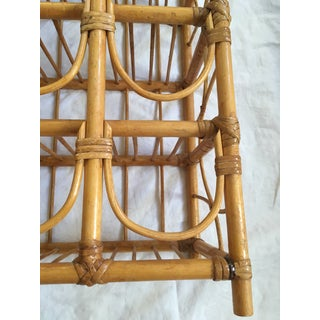 Mid Century Bamboo Rattan Bottle Wine Rack Preview