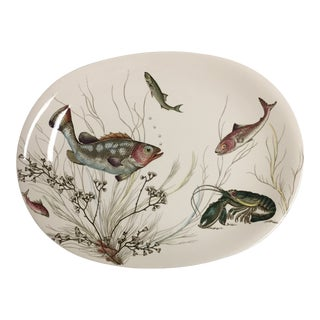 """White Johnson Brothers 15.5"""" Oval Fish Platter For Sale"""