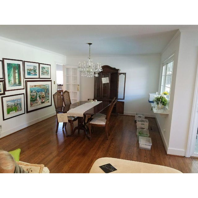 Federal Style Mahogany Dining Table For Sale In San Francisco - Image 6 of 7