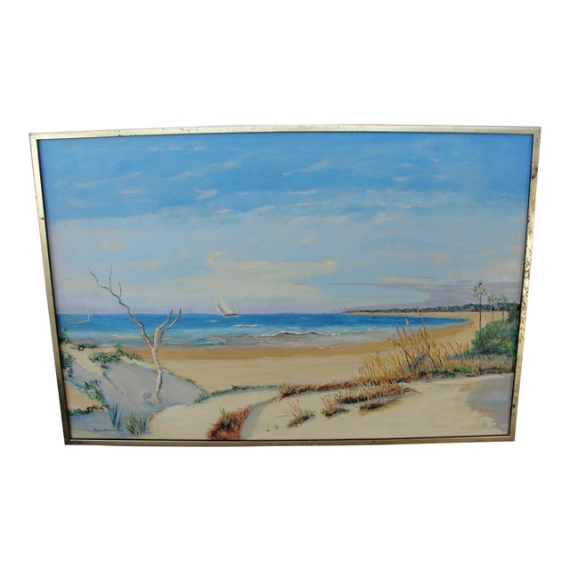 Vintage Oil on Canvas Painting - Image 1 of 10