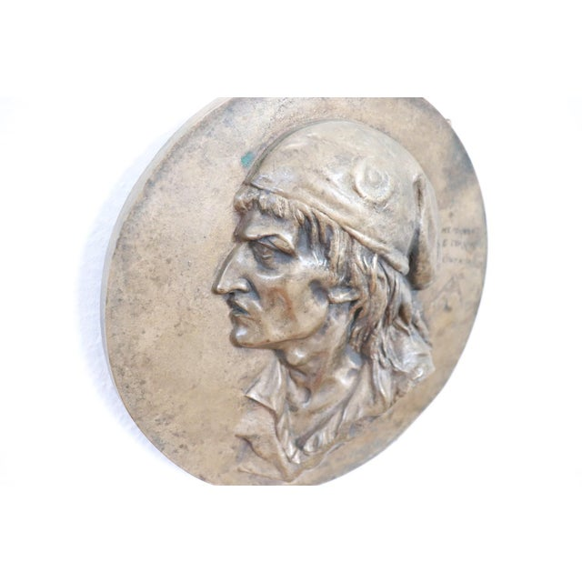 19th Century French Sculpture in Bronze Jean Paul Marat Portrait, 1868 For Sale - Image 4 of 7