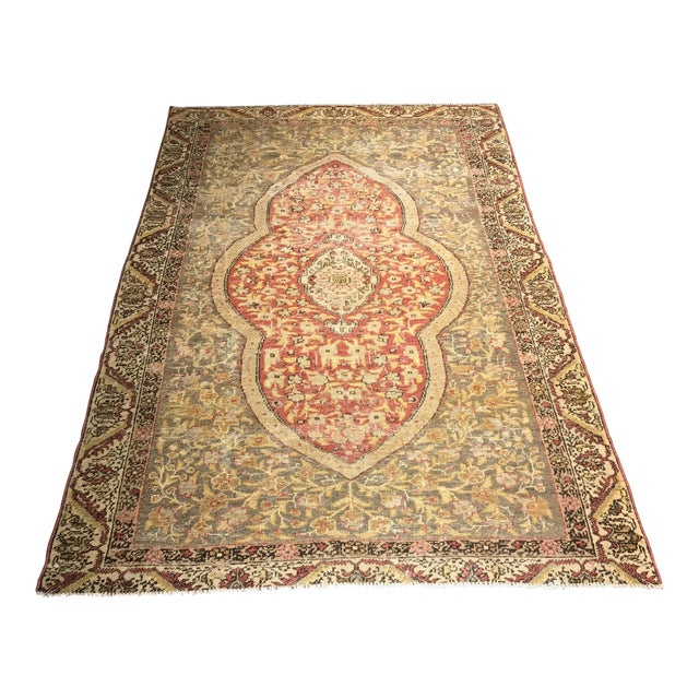 Bellwether Rugs Distressed Look Vintage Turkish Oushak Area - 4'x6' - Image 1 of 11