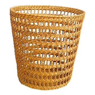 Vintage Large Woven Plant Basket For Sale