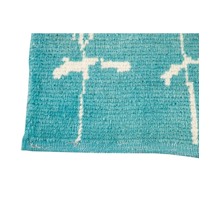 21st Century Modern Moroccan Style Wool Runner For Sale In New York - Image 6 of 9