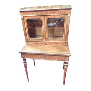 19th C. Bronze Mount & Wood Secretary Desk For Sale